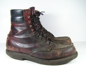 red wing boots womens 10 b brown ankle leather vintage work steampunk grunge