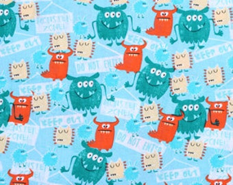 Monsters Fabric by the yard