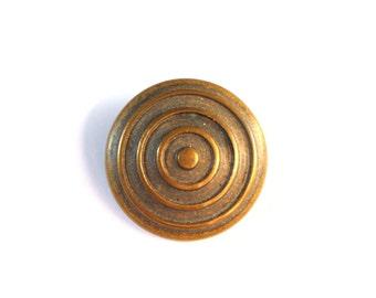 Circles Brass Antique Button