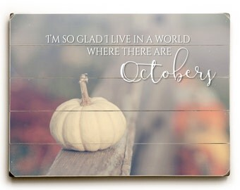 Autumn Wood Sign, Wood Plank Art, White Pumpkin Photo, Rustic Autumn Decor, Fall Wood Sign, Fall Farmhouse Decor, Wood Wall Art, Wood Sign