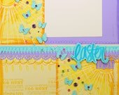 "EASTER -  Finished  12""x12"" Scrapbook Page"