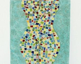 Mosaic Nude Art Wall Art
