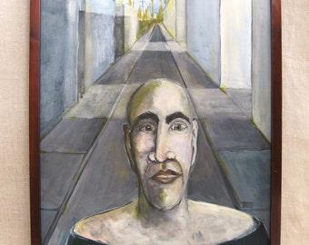 Surreal Art, Male Portrait Painting, Surrealism, Urban Landscape, Original Fine Art, Male Portraiture, Wil Shepherd Studio, Paintings of Men