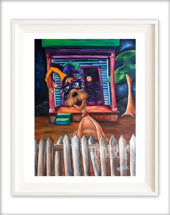 Best selling whimsical dog art print fun dog by joshuamatherne for Best way to sell art prints