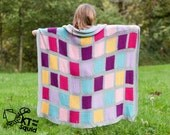 Crochet afghan pattern, seamless squares, crochet throw patten, easy baby blanket pattern, crochet block pattern ok to sell
