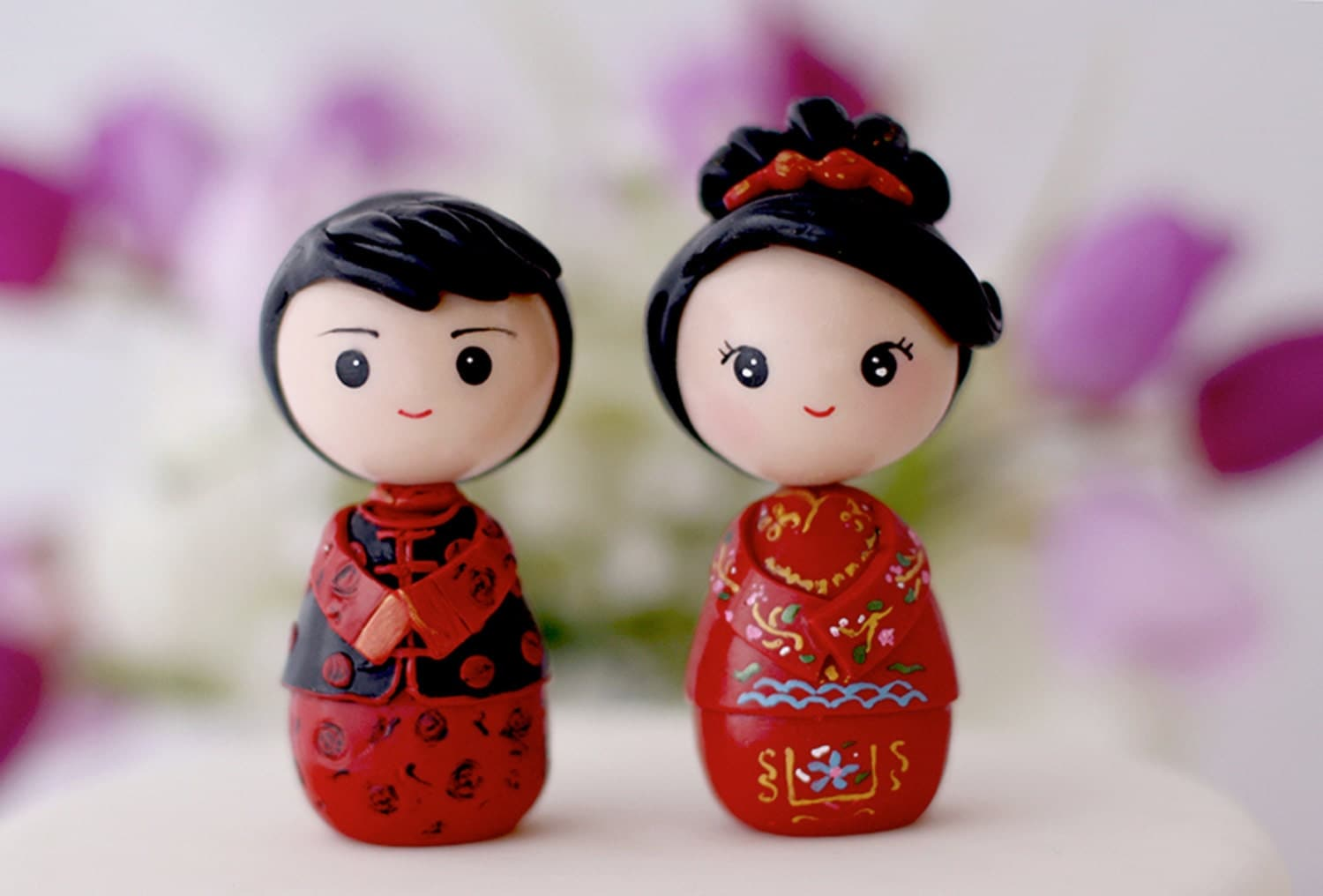 japanese wedding cake toppers and groom wedding cake topper kokeshi figurines 16588