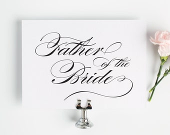 Father of the Bride Sign for Your Wedding in Black and White