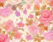 Vintage Wrapping Paper - Pink Roses - All Occasions or Wedding Wrapping Paper