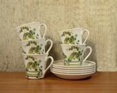 Vintage Cups Saucers Figgjo Flint Turi Design Market x 5