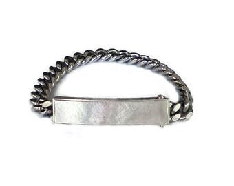 Anson ID Bracelet, Sterling Silver, Vintage Bracelet, Silver Chain, Anson Twinlock, Vintage Jewelry