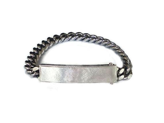 anson id bracelet sterling silver vintage bracelet silver