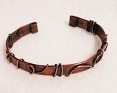 Men's  Copper Bracelet Handmade Unique