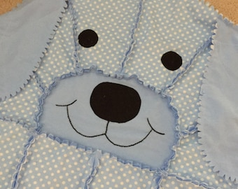Blue dog rag quilt