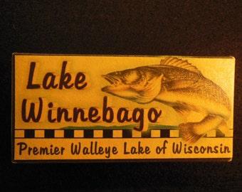 Lake Winnebago fishing lake house cabin decor lure boxes  Oshkosh