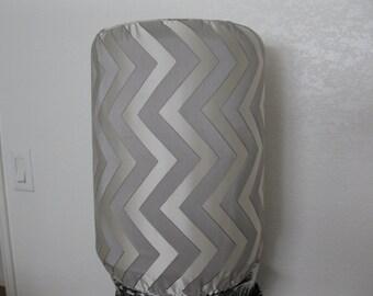 Zigzag Chevron Bottle cover-Dispenser Decor-5 Gallon Water Standard Size-Cream and light Grey
