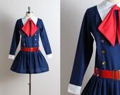 Vintage 60s Dress | vintage 1960s dress | sailor dress s/m | 5655