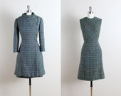 Vintage 60s Dress and Coat | vintage Juanita 1960s set |wool boucle medium