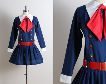 Vintage 60s Dress | vintage 1960s dress | sailor dress s/m | 5655