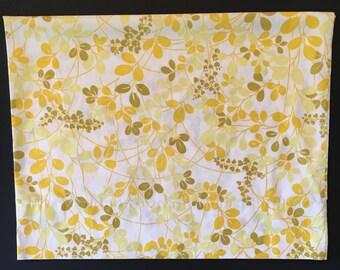 Vintage Pillowcase - Yellow Leaves Design - Sears