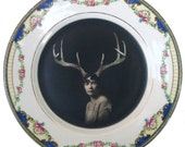Deer Liza - Altered Vintage Plate 7""