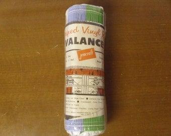 Vintage 1960's/1970's  Jencraft Striped Vinyl Reed Valances