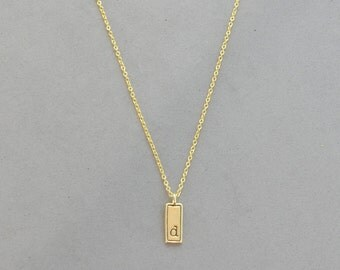 Gold Plated Initial D Necklace