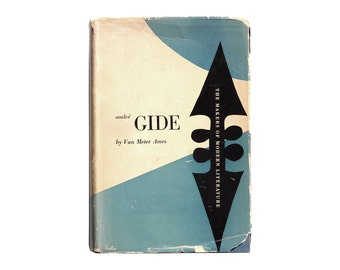 "Alvin Lustig book jacket design, 1947. ""André Gide"" by Van Meter Ames [New Directions, The Makers of Modern Literature]"