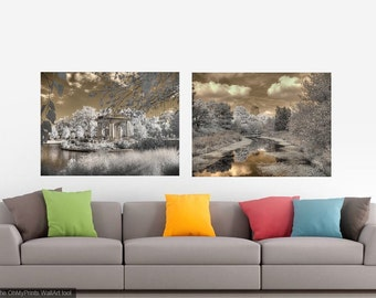 Set of two infrared photos Forest Park home decor The Muny Chase Park Plaza