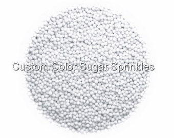 White Nonpareils Edible Sprinkles Cakepops Cupcake Candy Confetti Decorations 2oz.
