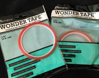 Ranger Wonder Tape-Double Sided-Heat Resistant-Clear Tape-Illustrated Art Faith-Bible Journaling-Scrapbooking-Card-Making-Embellishments