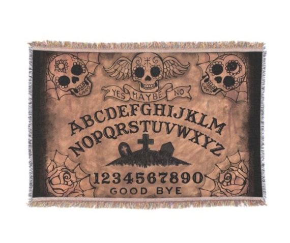 Ouija Board Sugar Skulls throw blanket