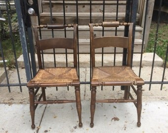 Pair Vintage Boling Company Hitchcock Chair