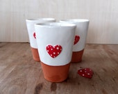 Red Heart Container Candle - Scented Soy Wax Candle