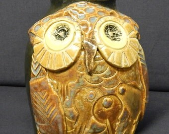 Owl Face Jug Pottery J