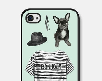 iPhone 5c Case Paris iPhone 6 Case French Bulldog iPhone 5 Case Dog iPhone Case Paris iPhone 6s Plus Case Mint Green iPhone 6 Plus Case