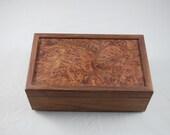 Walnut Burl  Keepsake Box/ Jewelry Box