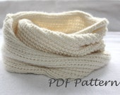 Easy Knitting PATTERN- Snood Knitting.  Infinity scarf Pattern PDF