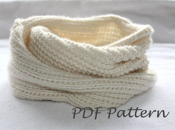Easy Knitting PATTERN Snood Knitting. Infinity scarf Pattern