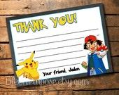 Pokemon Thank You Card