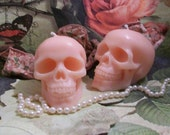 Bubble Gum Pink Skull Candle