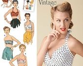 ON SALE Sz 14/16/18/20/22 - Simplicity Top Pattern 1426 - Misses' 1950's Vintage Bra Tops in Four Variations - Simplicity Patterns