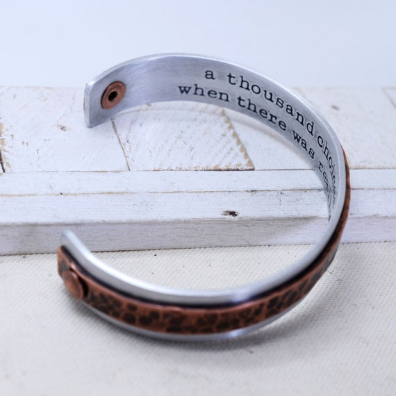 Rustic Country Style Cuff Bracelet - Unisex Jewelry - Personalized Hidden Message - Valentine's Day - Mother Father Grandfather Nana Gift