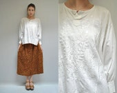 Mexican Peasant Blouse  //  70s Embroidered Top   //   FOLK FANTASY