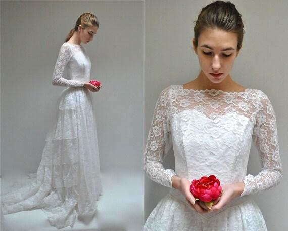 Flamenco wedding dress 50s lace wedding dress the for Flamenco style wedding dress