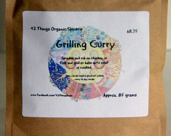 Grilling Curry - Chicken Curry Spice Rub - Curry for Salmon - Curry Spice Mix - Organic Curry