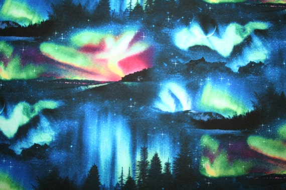 Northern Lights Fabric : Northern lights fabric beauty of the sky from
