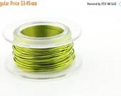 15% off Everything WIRE - 20g (AWG) Peridot Enamel Copper Wire - 6 yard spool.