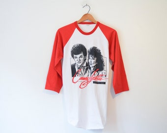 Vintage Conway Twitty and Loretta Lynn Together Again Baseball Ringer T Shirt