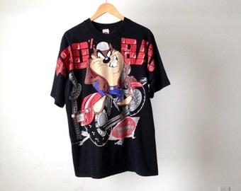 vintage TAZ 100% BAD black Looney Tunes t-shirt XXL shirt