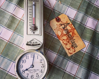 Honeywell Thermastat and Clock Circa 1920 / Yes it works